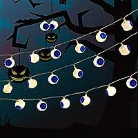 ハロウィンパーティー盂蘭盆パンプキンLEDバッテリーランタンストリングデコレーションクリスマスアウトドアライト (Color : White, Size : 3 m 20 lights)