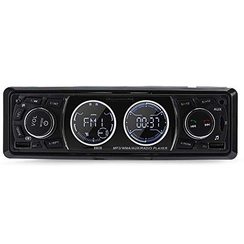 Garsent 1 Din autoradio Bluetooth met USB * 2/AUX/TF, FM-radio/MP3 mediaspeler, LCD-scherm, Single Din Universal Stereo Autoradio