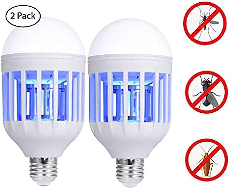 JINLE das killer - lampe, 220v insektenbrutzler glühbirne, universal e26   e27 glühbirne socket, elektronischen insekten - killer für indoor - outdoor garden patio hinterhof (2 packung)