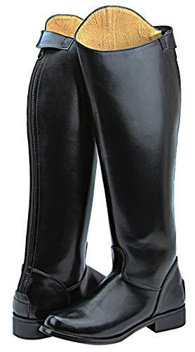Hispar Mens Man Decent Dress Dressage Boots with Back Zipper Riding English Equestrian Black