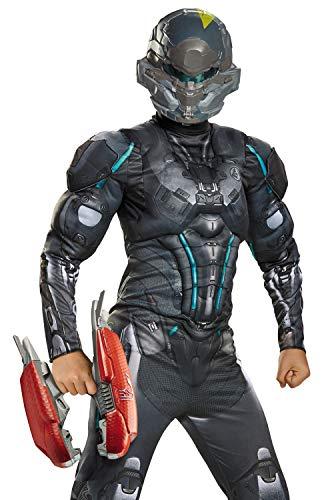 Disguise Halo Plasma Rifle Costume Accessory, Gray/Red /Multicolor