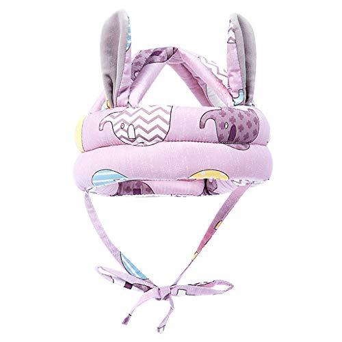 HomeDecTime Baby Schutzhelm, Verstellbarer Kopfschutz Hut Antikollisions Softkappe zum Kraulen, Laufen - Lila