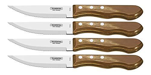 Conjunto de facas para churrasco Jumbo 4 Peças Tramontina Natural