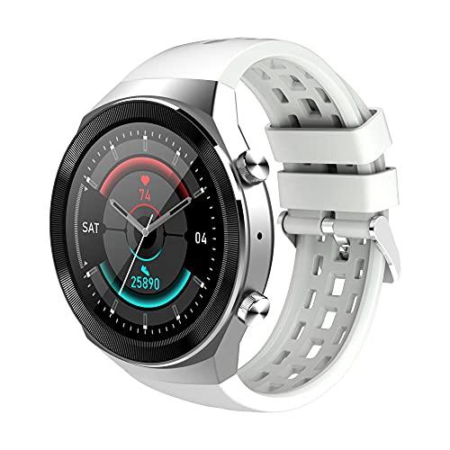 Q8 SmartWatch 2021 es Huawei Watch GT 2 Pro GT 2E Android Bluetooth Call Smart Watch Hombre IPX7 Impermeable 30 días de Espera, Monsteramy (Color : White)