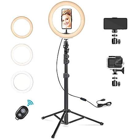 Rhodesy Led Ringlicht Mit Stativ Und Handyhalterung 10 Kamera