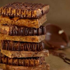 Ethel M Chocolates Chocolate Covered Pecan Brittle 24 piece