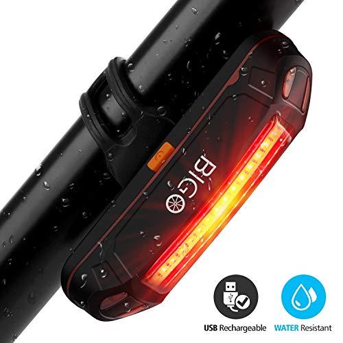 Luce Posteriore Bici USB Ricaricabile, LED Bicicletta Luce Fanale Posteriore Bici 6 Modalità di Luce, Resistente all\' Acqua, Adatto per TUTTE le Biciclette e Caschi per Ottimale Ciclismo Sicurezza
