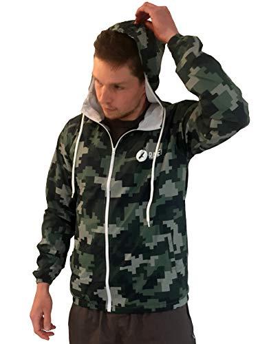 Raven Detecting | Camouflage Windbreaker Jacket/Unisex Camo Anorak voor Metalen detectie Enthousiastelingen