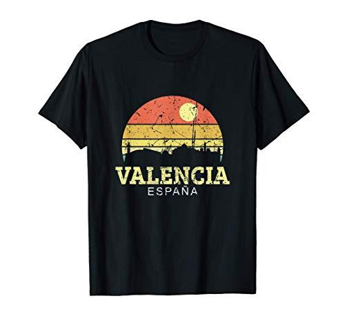 Valencia Vintage Camisa De Horizonte Ciudad De Valencia Camiseta