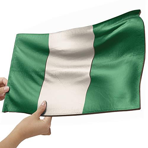 Nigeria Flagge als Lampe aus Holz - schenke deine individuelle Nigeria Fahne - kreativer Dekoartikel aus Echtholz