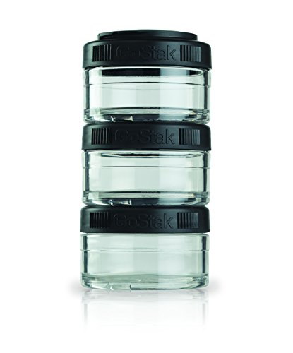 Blender Bottle Go Stak, Black, 3x 60ml