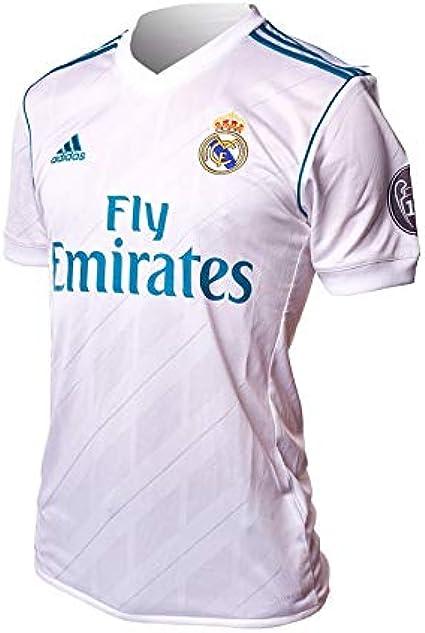 adidas H JSY UCL Camiseta 1ª Equipación Real Madrid 2017-2018 LFP - Champions League Hombre
