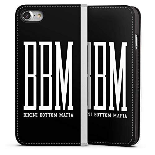 DeinDesign Leder Flip Case kompatibel mit Apple iPhone 7 Tasche Hülle Bbm Bikini Bottom Mafia Spongebozz