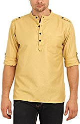 Svanik Mens Blended Straight Kurtas