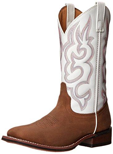 Laredo Women's Mesquite Western Boot, Taupe/White, 8.5 M US