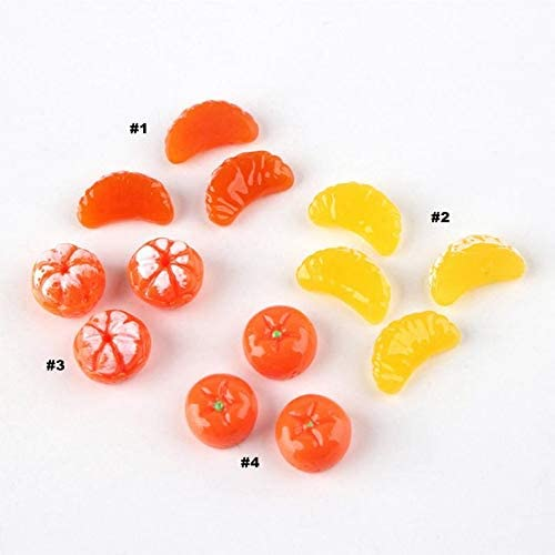 Tangerine Resin Ranking TOP16 Slime Max 49% OFF Charms Grandiosy cabochons Ornament or Scr