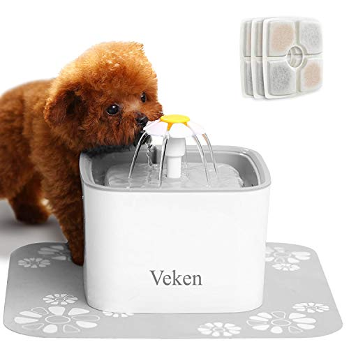 Veken Pet Fountain, 84oz/2.5L Automatic Cat Water Fountain Dog Water Dispenser...