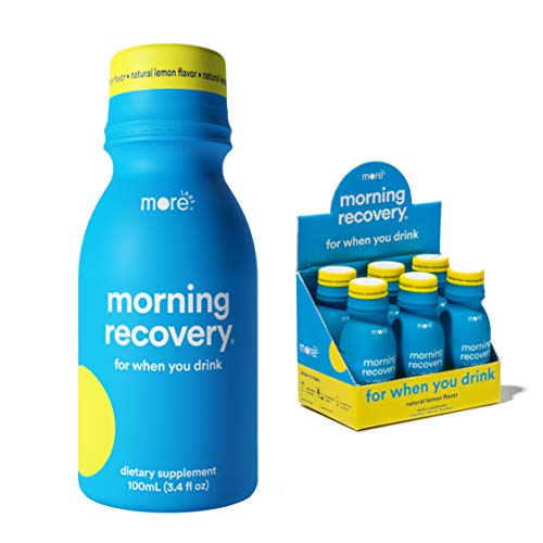 Morning Recovery: Patent-Pending Liver Detox Drink (Pack of 12) - New & Improved Original Lemon Flavor - Highly Bioavailable Liquid DHM, Milk Thistle, Electrolytes - No Artificial Flavors