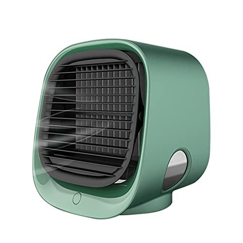 illuMMW Refrigerador de aire portátil para escritorio, muy silencioso, mini acondicionador, enfriador de aire para casa, oficina o habitación