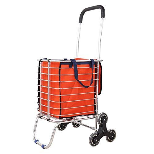 JPL Carritos de compras para personas mayores , Carrito de compras Carrito de carga Carrito pequeño Carrito portátil Carrito plegable antiguo Carrito Inicio Carrito Remolque,6 Ruedas