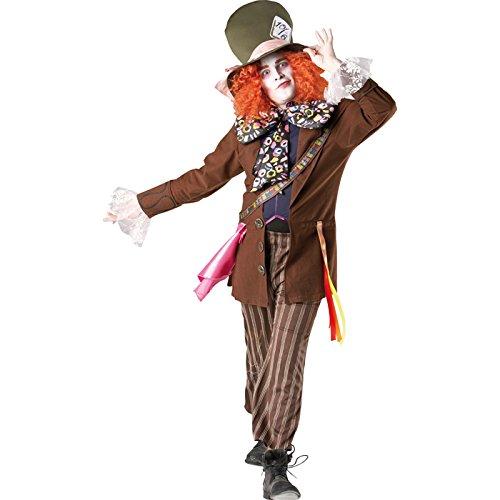 PARTY DISCOUNT Disfraz de sombrerero loco para hombre, talla XL