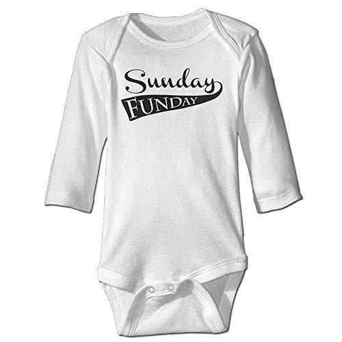 SDGSS Ropa para bebés Bodysuits Sunday Funday Baby Long Sleeve Bodysuit