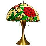 HTL Lampada da Tavolo Lampada Illuminazione Decorativa Tradizionale con Nightlight Mercury Vetro Off Bianco Mist Tessuto Campana Ombra per Salotto Famiglia