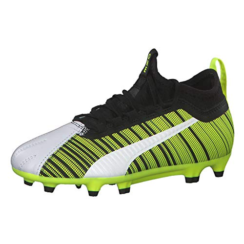 Puma One 5.3 Fg/ag Jr, (Puma White-Puma Black-Yellow Alert 03), 5 (38 EU) EU