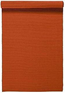 LINUM UNI Chemin de Table décoratif 45 x 150 cm en Coton côtelé, Lavable en Machine, Rouille
