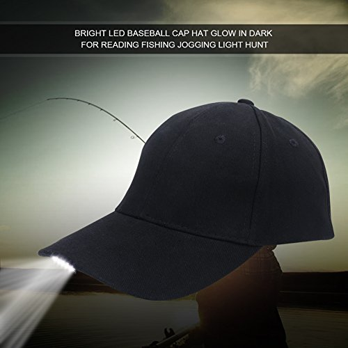 Gorra de Pesca al Aire Libre, Ligero LED Algodón Ajustable Gorra de...