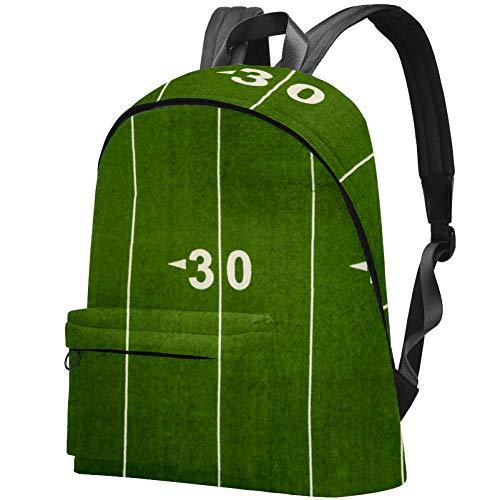 Football Yard Line Bag Teens Student Bookbag Leichte Umhängetaschen Reiserucksack Tägliche Rucksäcke