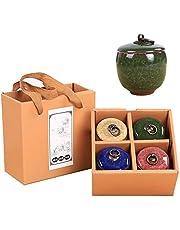 urna kremacyjna kremacja urny ceramiczne klasyczne urny pamiątkowe - urny żetonów - zestaw urn pamiątkowych - ręcznie wykonane i niedrogie mini urny mogą być stosowane do popiołów, różowych, kolor: jasnoniebieska memo