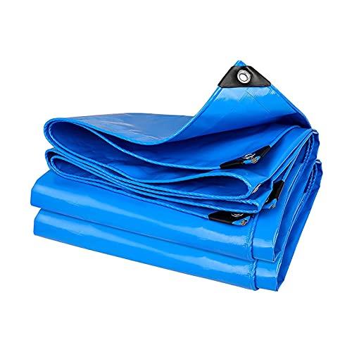 ZZYE Lona Tarra Impermeable: Lonas agrícolas de Poli Multiusos - Cobertura de Servicio Pesado para Tiendas de campaña y protección del Tiempo Lona Impermeable (Color : Blue, Size : 1.8×2.8m)