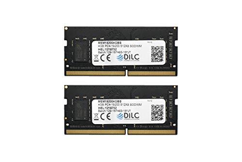 DILC RAM Sodimm DDR4 8GB (2x4GB) 2400Mhz PC4-19200 (260 Pin) Single Rank 512x8 Memoria Notebook/Portatile