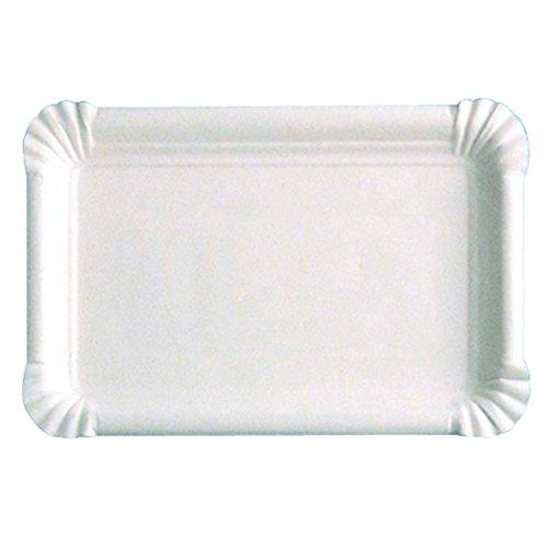 García de Pou 320.03 Bandejas Pastelería Pequeñas, 15 x 9 Cm, Set de 250, Blanco