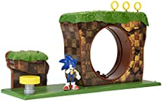 "Sonic The Hedgehog Green Hill Zone Playset with 2.5\"" Sonic Action Figure"