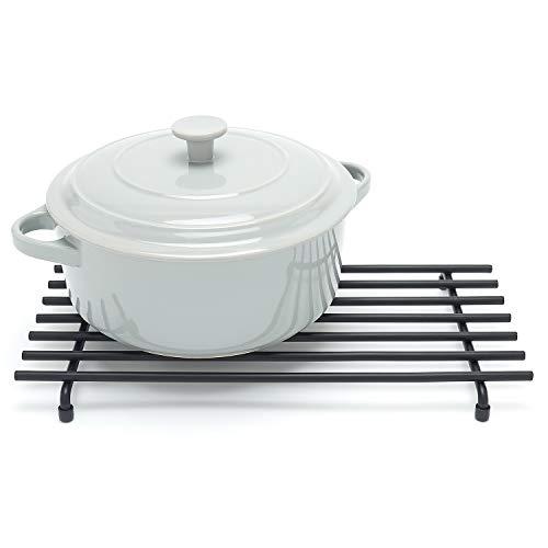simplywire - Trivet - Resistente al calor - Protector de encimera de cocina - Grande - Negro