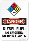 SmartSign 'Danger - Diesel Fuel, No Smoking...