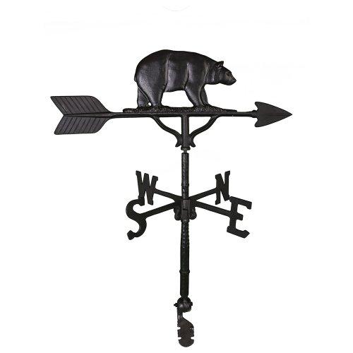 Montague Metal Products Wetterfahne mit schwarzem Bär, 81 cm