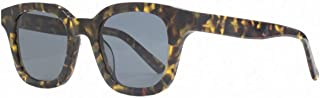 French Connection Mens Premium Chunky Square Flat Sunglasses - Black/Brown