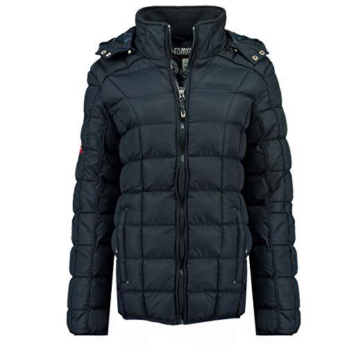 Geographical Norway Babette Parka - Abrigo Corto para Mujer con Capucha Desmontable Azul Marino 44