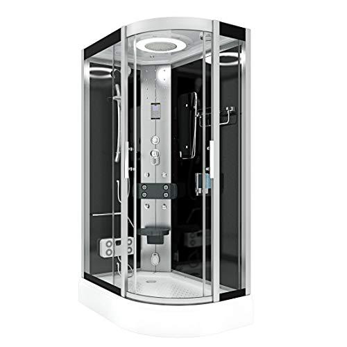 AcquaVapore DTP8060-7302R Dusche Dampfdusche Duschtempel Duschkabine 80x120 JA mit 2K Scheiben Versiegelung