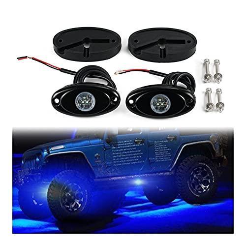 2 PCS Luz de Roca Debajo de Las Luces del Cuerpo RGB 9W Atmósfera Ambiente Lámpara Lámpara Accesorios para Motocicletas para automóviles para SUV RV UTV ATV Fuera de la Carretera