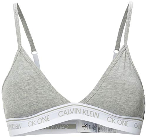 Calvin Klein Unlined Triangle Almohadillas y Rellenos de Sujetador, Gris (Grey Heather 020), M para Mujer