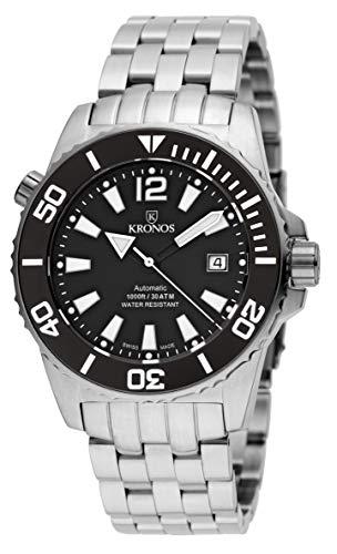 Kronos Herren Uhr Analog Automatik mit Edelstahl Armband 736N.8.55W