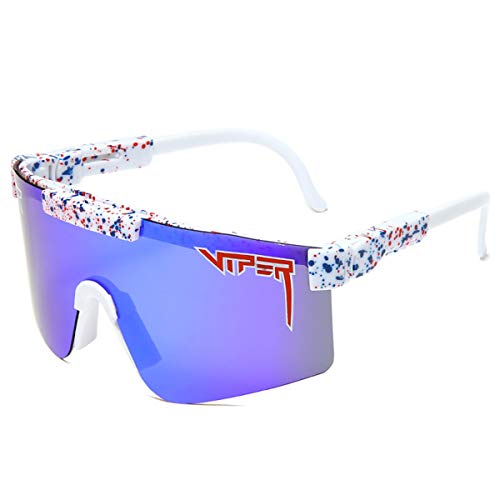 Crótalo Gafas de sol, Gafas de Ciclismo al aire Libre, Gafas de sol Polarizadas para Hombres, Lentes de Espejo Anti-ultravioleta de Serpiente Cobra Anti-venenosas para Exteriores ( Color : D )