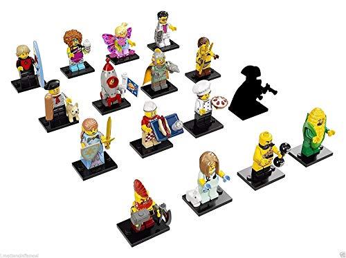 LEGO - Mini figure serie 17 71018, serie completa di 16 personaggi