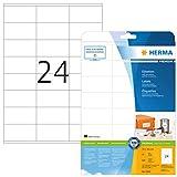 HERMA Etichette Universali, 70 x 36 mm, Etichette Adesive A4 per Stampante, 24 Etichette per Foglio, Bianco