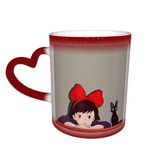 Tazas de café, diseño de Dumbo que cambian de color, taza de té para mujeres, hombres, niños, niñas, rojo