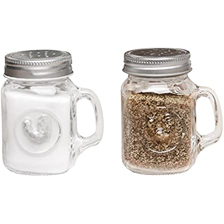Home Essentials 3.25 H Aqua Rooster Embossed Salt /& Pepper Set H
